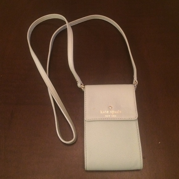 new concept 95a58 03ca3 Kate spade leather cell phone cross body wallet
