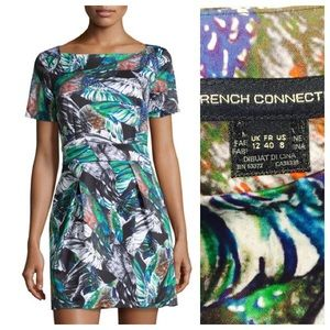 French Connection Feather-print Dress, Size 8