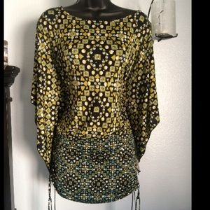NEW Green Mirrored Dots Top/Tunic (Stretch