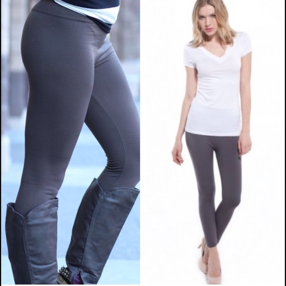8d32a3359a68c9 Pants | Last Pair Fleece Lined Leggings Charcoal Grey | Poshmark
