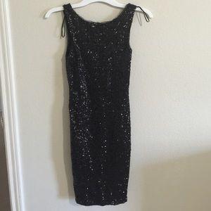 Black sequin Zara dress