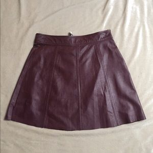 Reduced 💥NWT💥Parker Sexy Burgundy Skirt SzS