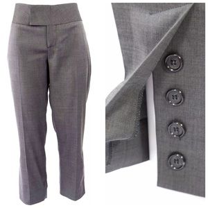 "Alvin Valley Gray Crop Capri Pants 40 8 33"" $289"