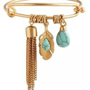Gold tone bangle bracelet