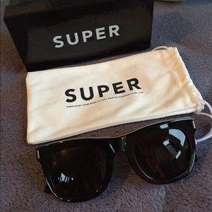 Super Sunglasses Accessories - Auth SUPER black gold Havana sunglasse