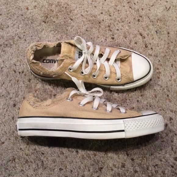 b6f602e2afa2 Converse Shoes - tan  light brown distressed converse