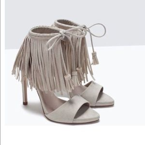 Host Pick Zara Fringe Heels. Brand new in box