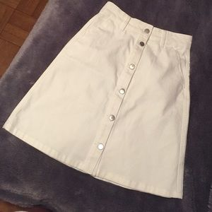 70s Inspired Button Front Skirt