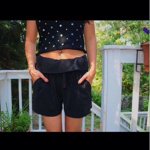 BCBGeneration Pants - Stylish Black fabric shorts ♣️♠️⚫️