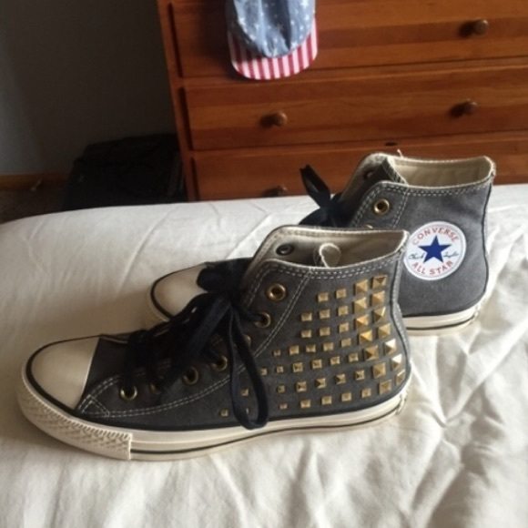 Converse Shoes - Brand new grey studded converse 0a4add0ce