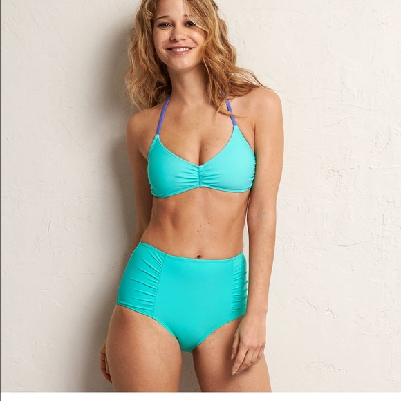 4f0e3142e2 aerie Swim   Hirise Bikini Bottom In Sugar Palm   Poshmark