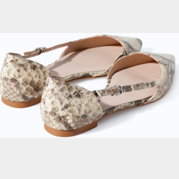 ff92361545c ... Snakeskin Flat Shoes. M 55fab175a72265213d00404f
