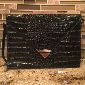Handbags - Vintage Large Clutch with Shoulder Strap