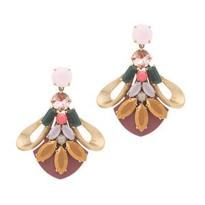 J. Crew CRYSTAL HIVE EARRINGS – NEW