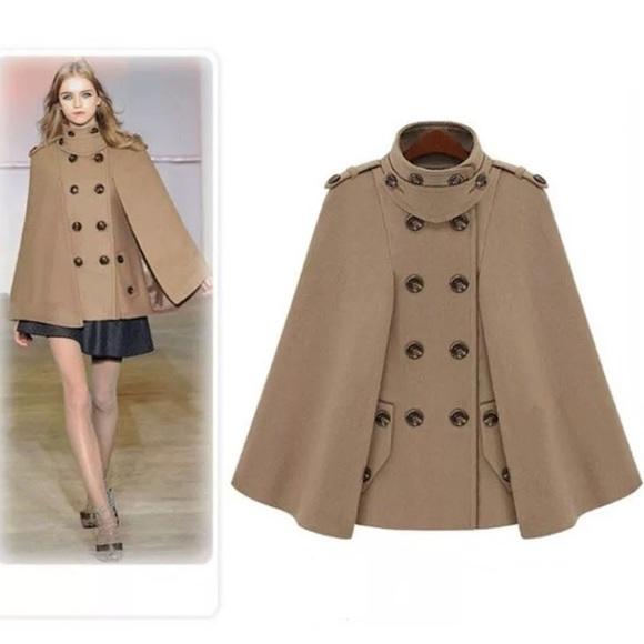 Jackets & Blazers - ❌SOLD on Mercari❌ Cape Coat cloak celebrity tan