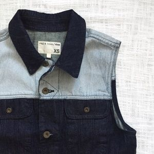 rag & bone Jackets & Blazers - rag & bone/JEAN 'boyfriend' colorblock denim vest