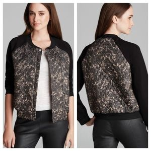 PJK Calabash Printed Quilted Varsity Jacket