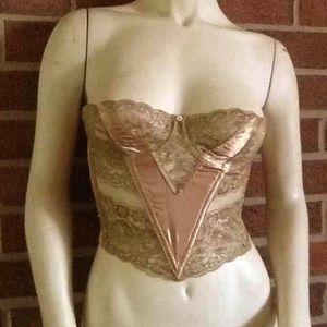 Gold Christian Dior Intimates Bustier 34B RARE