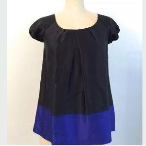 ❤️ sold - Theory color block silk top petite