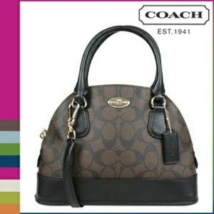 Coach Mini Cora Dome Satchel