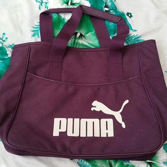 20148518a1dc Puma vintage purple canvas bag. M 55faf3747eb29fb255005253