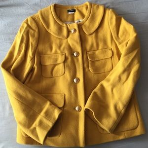 JCrew Peter Pan collar coat
