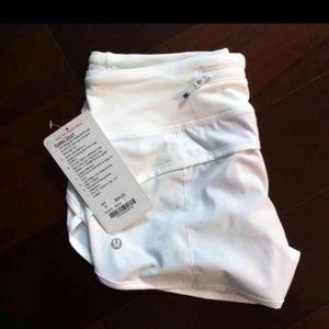 Lululemon speed shorts white 4 BNWT