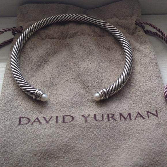 David Yurman Jewelry 5mm Pearl Cable Bracelet Poshmark
