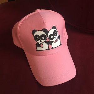 Cute pink panda hat!