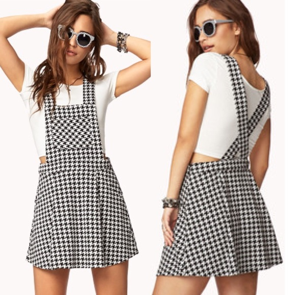 fd651594adf Forever 21 Dresses   Skirts - Houndstooth Overall Forever 21 Dress