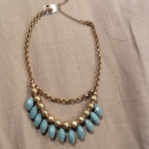 Accessories - Jewelry jewelry jewelry!!! Gold and teal necklace