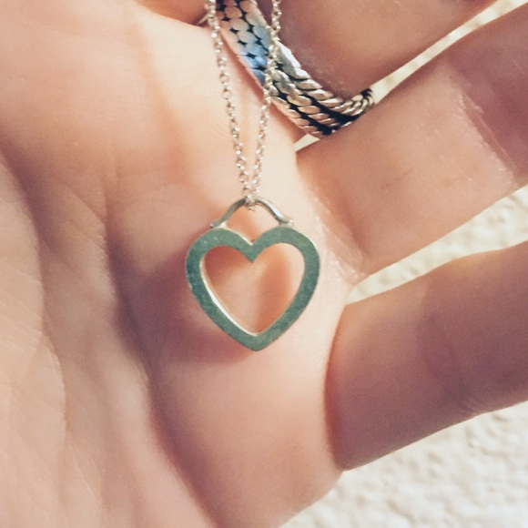 d9dcb2d2e Tiffany & Co. Jewelry | Tiffany Co Silver Simple Heart Necklace ...