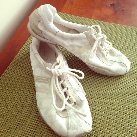 75 coach shoes white coach tennis shoes from alex s