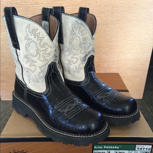 Ariat Shoes   Ariat Fatbaby Black Gator