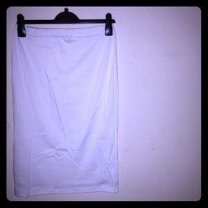 White midi skirt