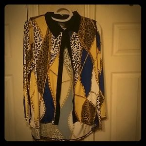 Leopard chains shirt