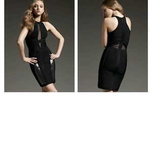 Authentic Herve Leger Black Dress XS