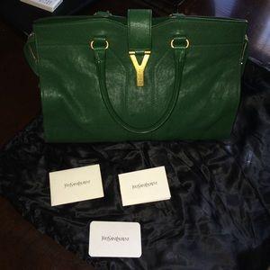 yves saint laurent belle de jour shoulder bag - 63% off Yves Saint Laurent Handbags - YSL Cabas Chyc Pony Hair ...