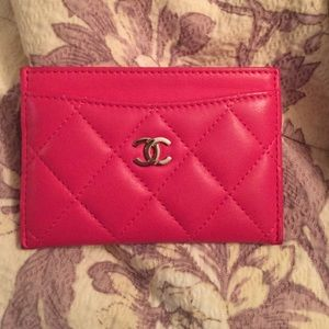 Never Used Chanel Pink Card Holder