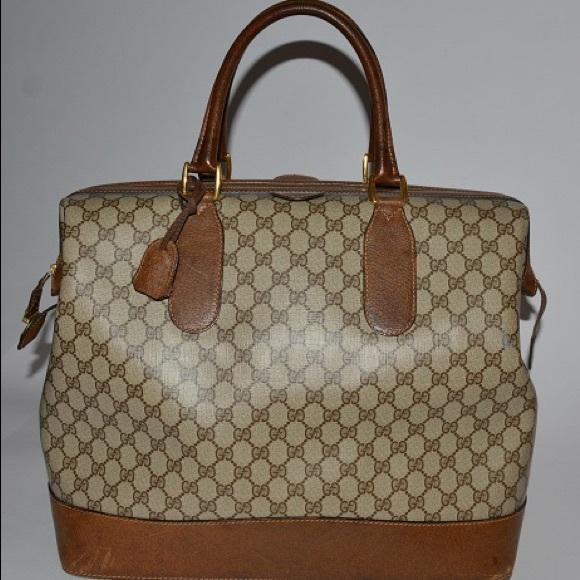 cad65432e5a7 Gucci Bags | Auth Vintage Travel Bag Brown 60s | Poshmark