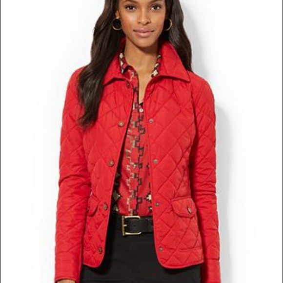 Ellen Tracy - Ellen Tracy Red Quilted Coat SzPM from Greater's ...