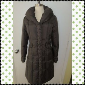 Cole Haan  Pillow Collar Down Coat Brown Small