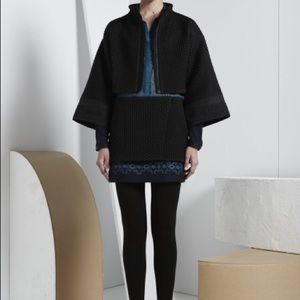 Maiyet double layer wool wrap skirt & blouse