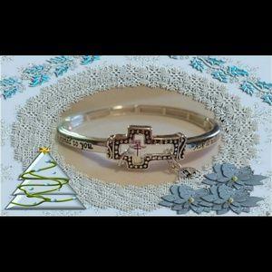 Jewelry - NEW Inspirational cross charm bracelet