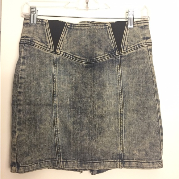 Era Of Chaos - High Waisted Zip Up Denim Skirt from Haley's closet ...