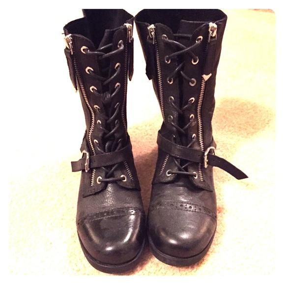 72% off ALDO Shoes - ALDO black zipper combat boots from ...