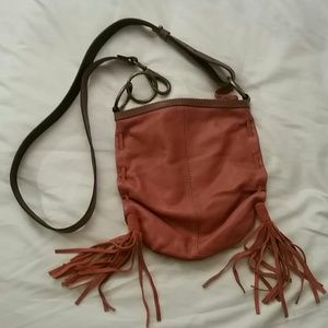 Lucky brand leather crossbody
