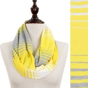 Color Stripe Jersey Infinity Scarf