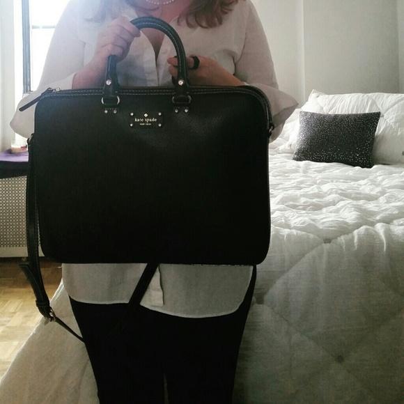 pretty nice 2c518 187e3 Kate Spade leather laptop bag NWT