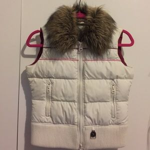 Abercrombie and Fitch Down Vest with Faux Fur